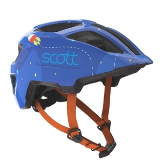 CASQUE ENFANT SCOTT SPUNTO BLUE ORANG TU