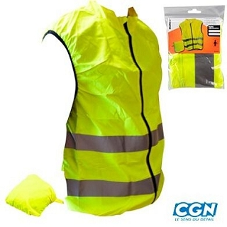 GILET SECURITE JAUNE FLUO VELO ADULTE