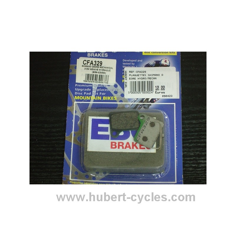PLAQUETTES SHIMANO DEORE HYDRO/MECAN